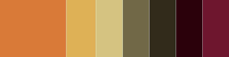 Gama de colores otoñal
